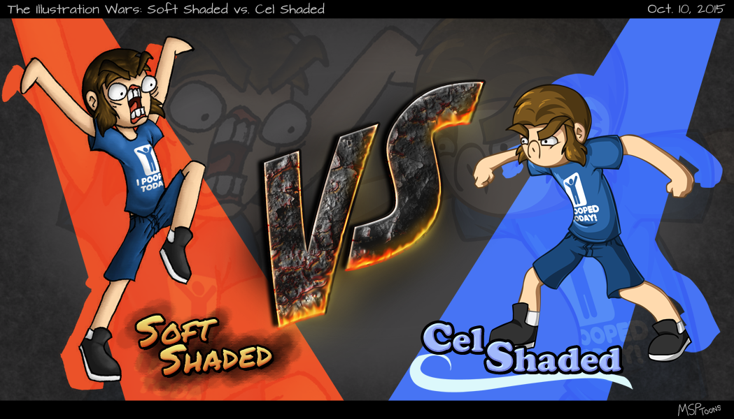 Soft Shaded vs Cel Shaded